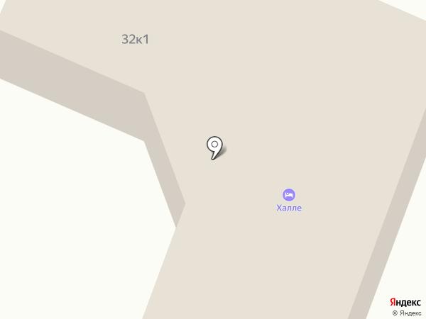 Халле на карте