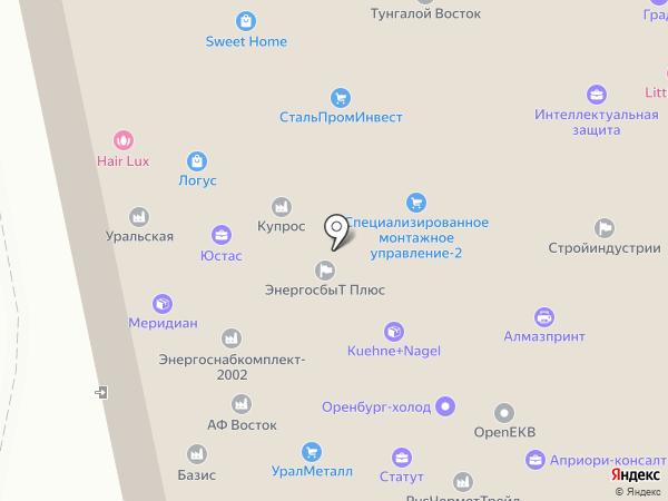 Сибалюкс на карте
