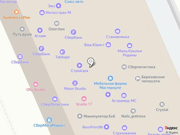 Березовские тепловые сети на карте