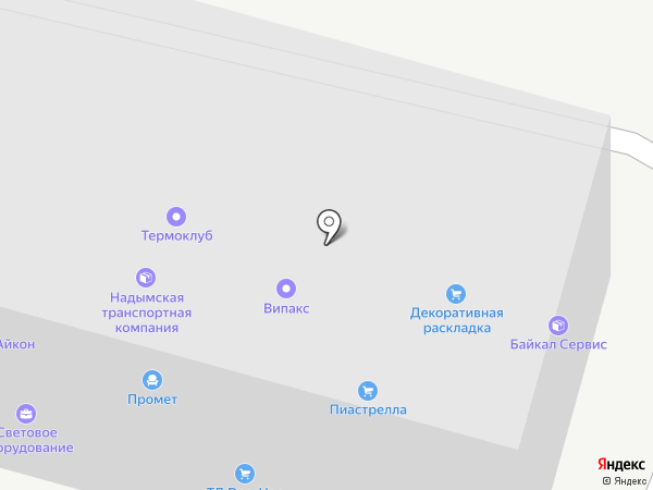 Яртэкс на карте