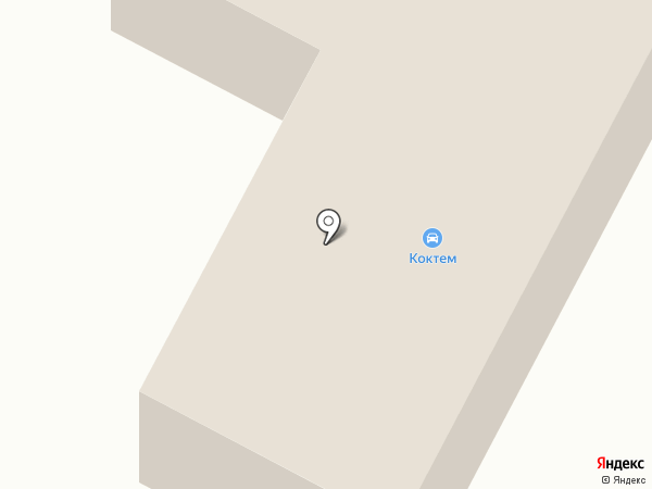 Коктем на карте