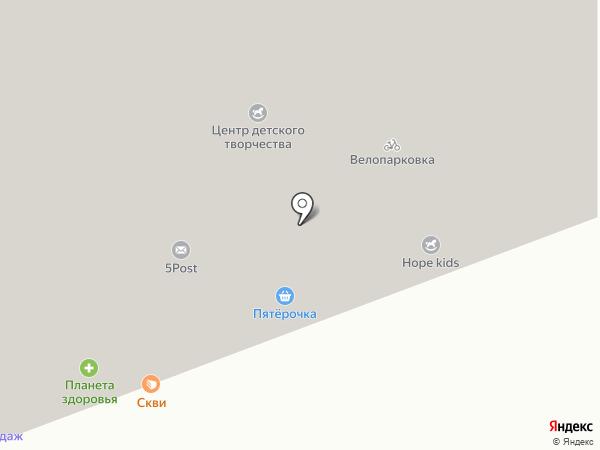 За Ручьем на карте