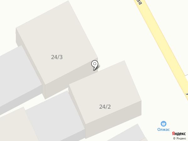 Олжас на карте