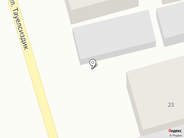 Акниет на карте