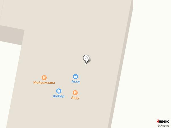 Акку на карте