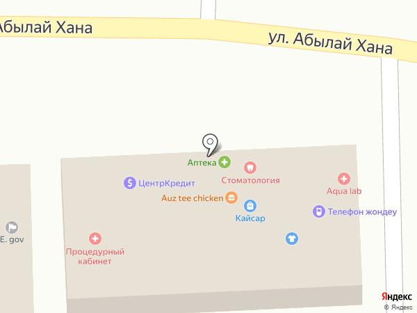Курылыс на карте