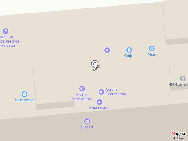 MSM на карте