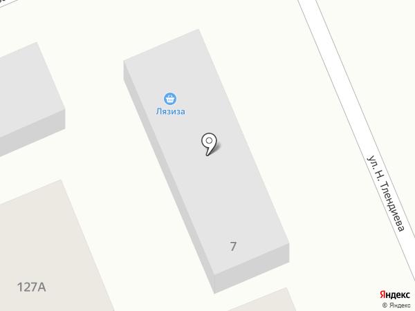 Лязиза на карте