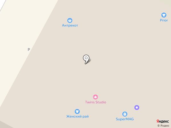 Вязаные штучки на карте