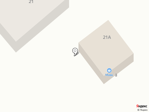 Маяк на карте
