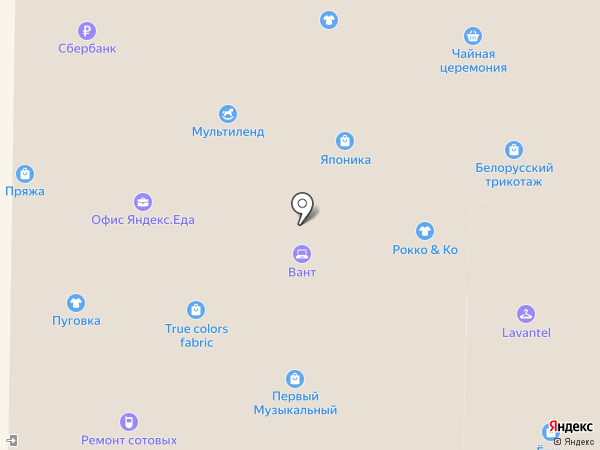 Сеть кондитерских магазинов на карте
