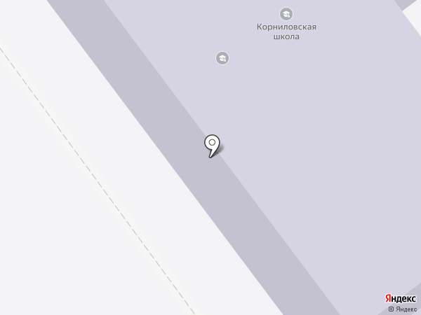 Корниловская средняя общеобразовательная школа на карте