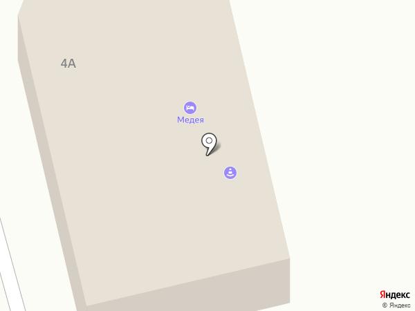 Медея на карте