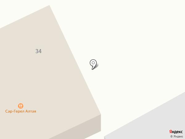 Сар-Герел Алтая на карте