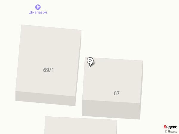 Диапазон на карте