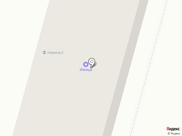Ижица на карте