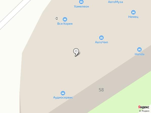 Ниссан-Рено на карте