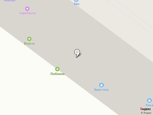 Власта-Раздолье на карте