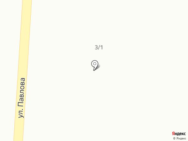 Автостоянка на ул. Павлова на карте