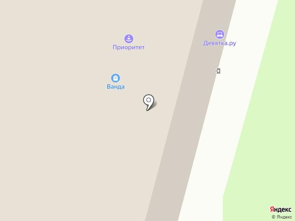 В центре на карте