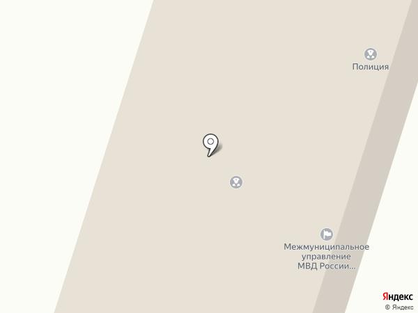 Отдел полиции на карте Вихоревки