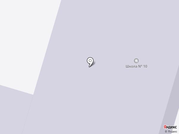 Средняя общеобразовательная школа №10 на карте Вихоревки