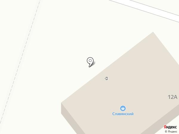 Магазин хлебобулочных изделий на карте Вихоревки
