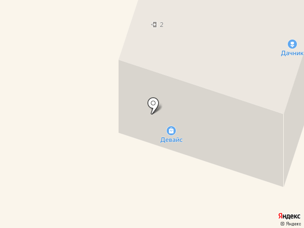 Девайс на карте Вихоревки