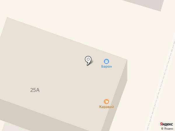 Каравай на карте Вихоревки