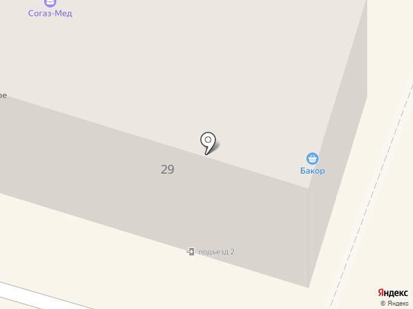Бакор на карте Вихоревки