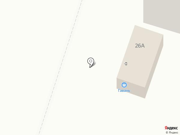 Гавань на карте Вихоревки