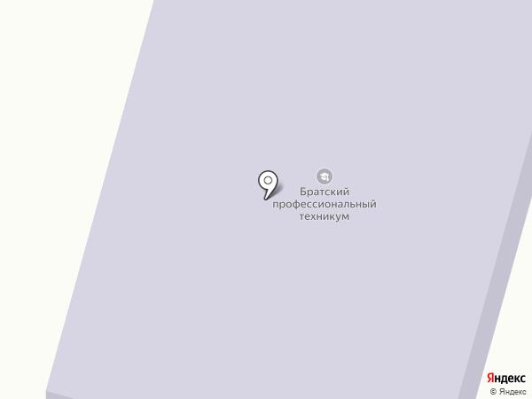 Братский профессиональный техникум на карте Вихоревки