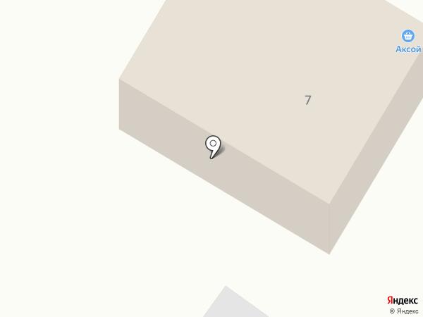 Аксой на карте Вихоревки