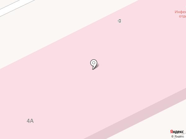 Вихоревская городская больница на карте Вихоревки