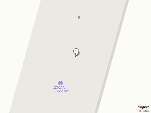 Братский спортивно-технический клуб на карте Вихоревки