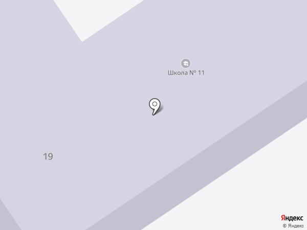 Средняя общеобразовательная школа №11 на карте Братска