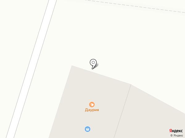 Даурия на карте Братска