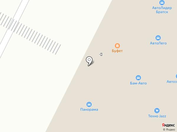 Armada на карте Братска
