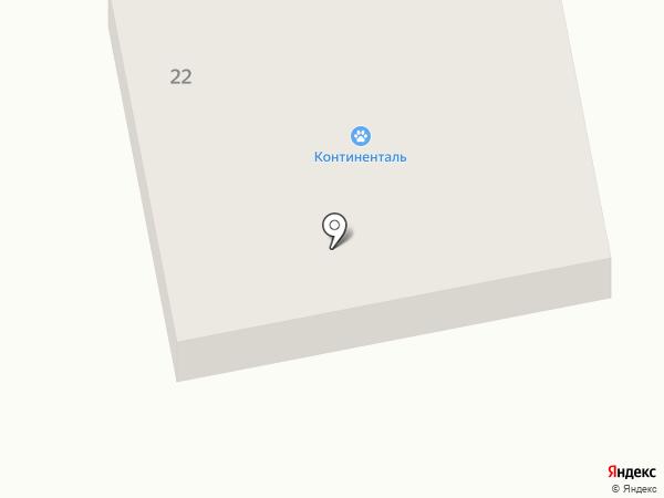Континенталь на карте Братска
