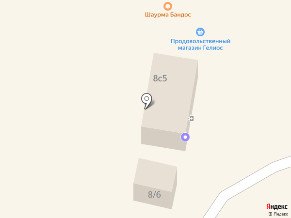 Гелиос, ЗАО на карте Братска