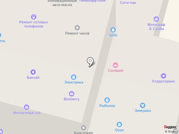 Саквояж на карте Братска