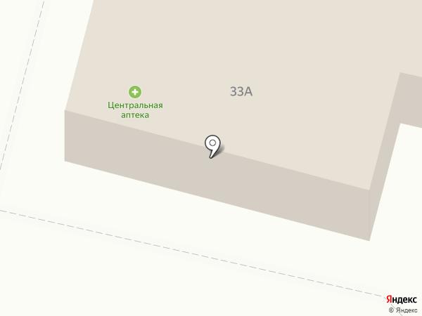 Центральная аптека, МП на карте Братска