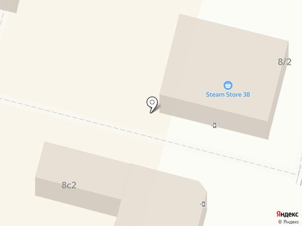 Магазин фруктов и овощей на ул. Крупской на карте Братска