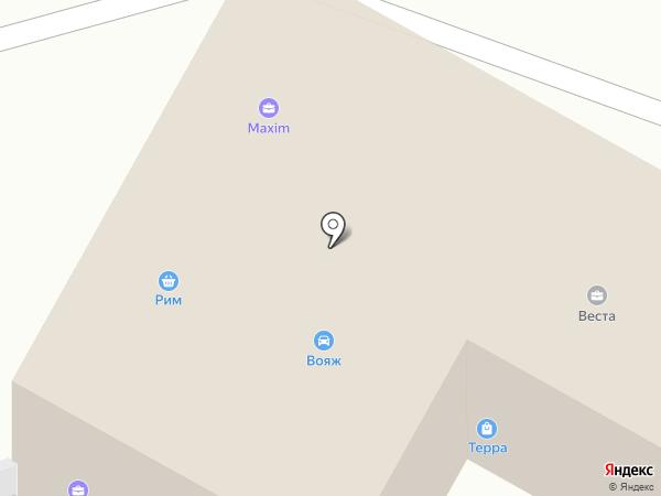 Трек на карте Братска