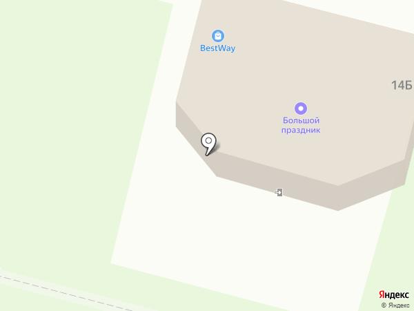Бэствэй на карте Братска