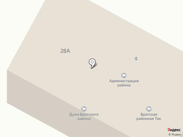 Администрация Братского района на карте Братска