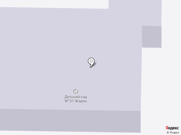 Детский сад №51, Жарок на карте Братска