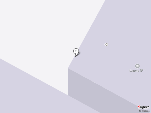 Средняя общеобразовательная школа №1 на карте Братска