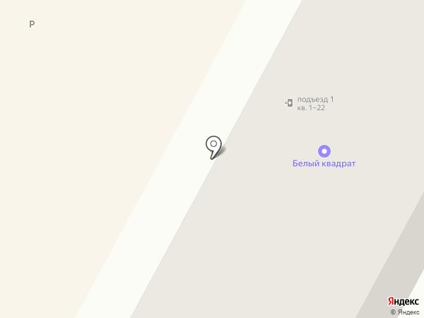 Белый квадрат на карте Братска