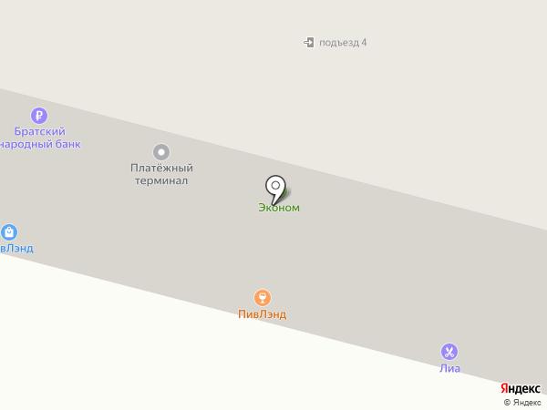 Дирекция городской инфраструктуры г. Братска, МП на карте Братска